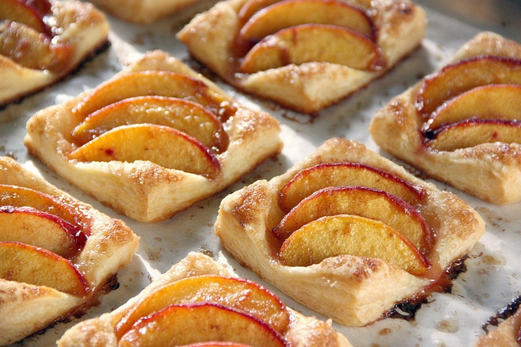 puff-pastry-peach-tarlets