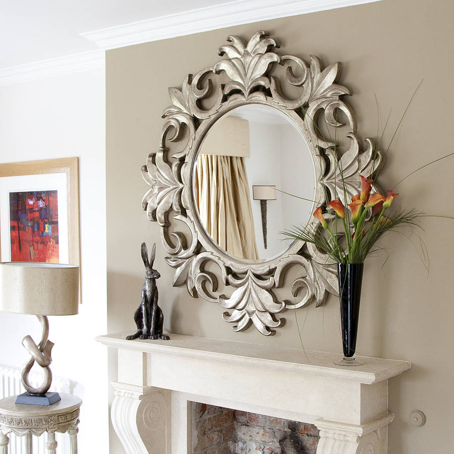 traditional-silver-wall-mirror-decor
