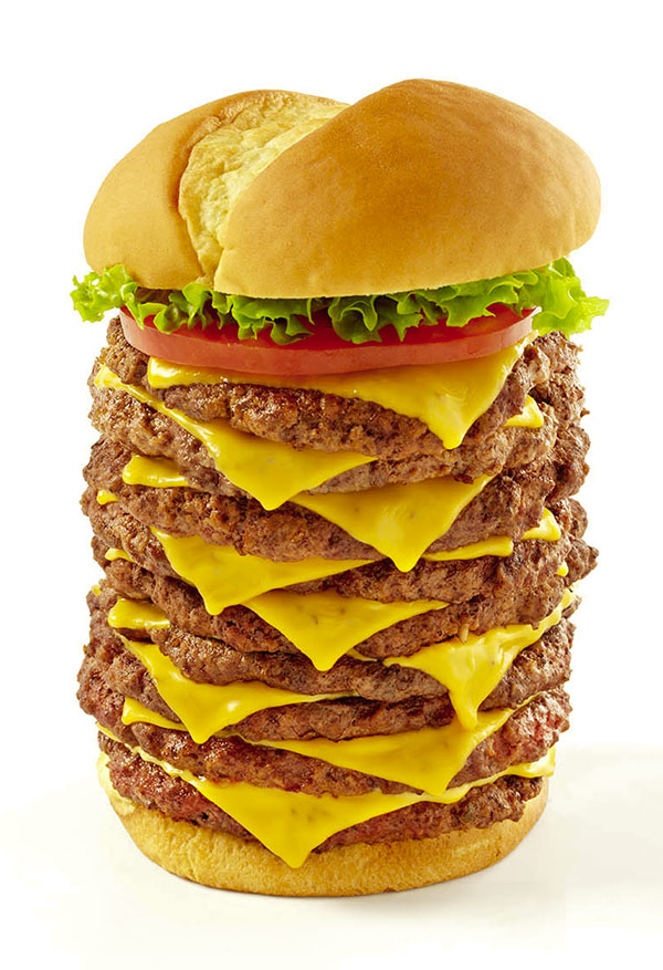 The Triple Triple, just one of the many big burgers in America