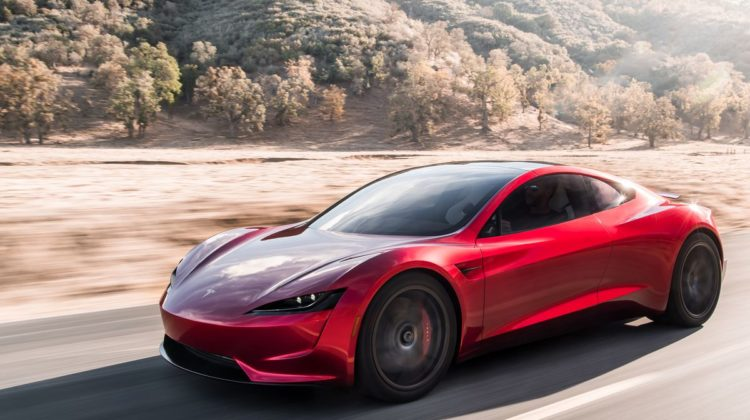 A view of the new Tesla Roadster